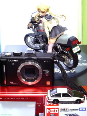 Panasonic Lumix DMC-GF1 & Phat Company Bakuon!!: Rin Suzunoki & Suzuki GSX400S Katana & Tomica Initial D: AE86 TRUENO