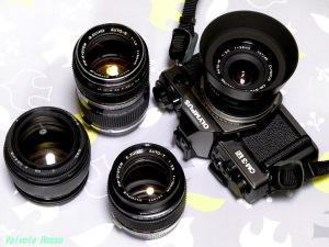 OLYMPUS OM-3Ti + G.ZUIKO AUTO-W 28mm F3.5 & G.ZUIKO AUTO-S 50mm F1.4 + 2X OP TELEPLUS MC7 & E.ZUIKO AUTO-T 100mm F2.8 & LZOS(Lytkarino) MC JUPITER-9 85mm F2 (M42)