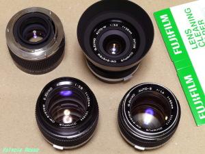 OLYMPUS G.ZUIKO AUTO-S 50mm F1.4 & 2X OP TELEPLUS MC7 & G.ZUIKO AUTO-W 28mm F3.5 & E.ZUIKO AUTO-T 100mm F2.8