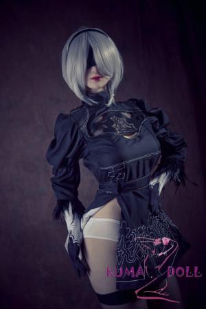 《 KUMA DOLL 2Bコスプレ?ラブドール 》 Qita Doll TPE製ラブドール 164cm バスト大 #11