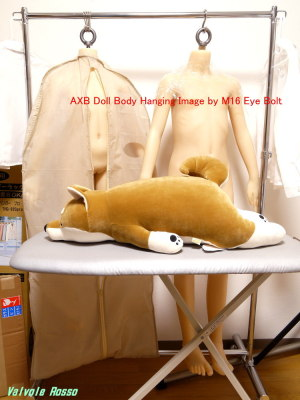 AXB Doll 120cm & 136cm Body Hanging Image by M16 Eye Bolt
