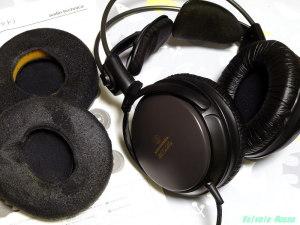 AUDIO-TECHNICA ATH-A500 イヤーパッドを交換してみた。