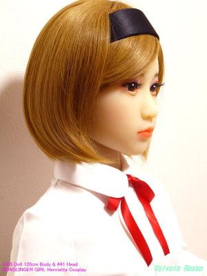 成人女性用なのか#41ヘッドに装着すると、やっぱりちょっとブカブカですが、髪の毛のボリュームはちょうど良さそうです。