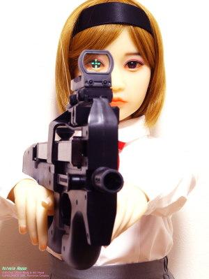 《2000x1500 フォトショップで調整》 DMC-GF5/LUMIX G VARIO 14-45/F3.5-5.6/絞り優先AE/0.77秒/F11/マルチ測光/+1.0/ISO200/45mm/90mm AXB Doll 120cm Body & #41 Head / GUNSLINGER GIRL Henrietta Cosplay